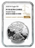 2020 W NGC PF 70 Silver Eagle Brown Label 1oz Silver Coin