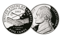 2004 -S Peace Medal Proof Westward Journey Jefferson Nickel