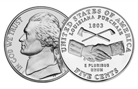 "2004 - P Jefferson Nickel Roll ""Peace Medal"" Design"