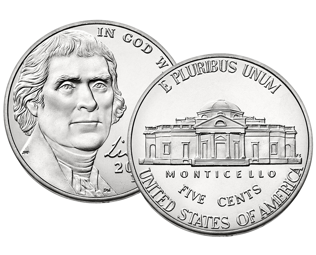 2015 D Jefferson Nickel 40 Coin Roll