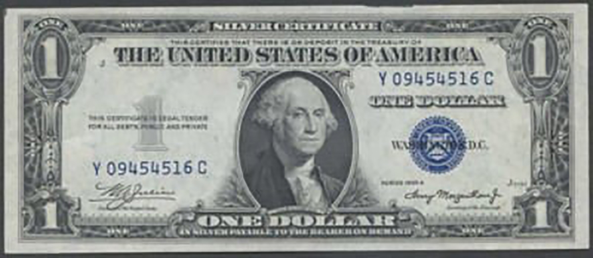 1 Us Silver Certificate 1957 Or 1935 Series Circulated Note