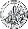 2012 - P Acadia - Roll of 40 National Park Quarters