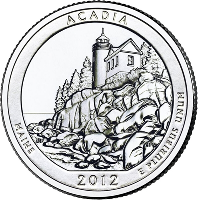 2012 - P Acadia National Park Quarter Single Coin