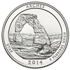 2014 - S Arches National Park Quarter Single Coin