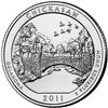 2011 - D Chickasaw National Park Quarter Single Coin