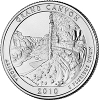 2010 - D Grand Canyon National Park Quarter Single Coin