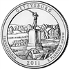 2011 - P Gettysburg - Roll of 40 National Park Quarters
