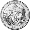 2011 - P Glacier - Roll of 40 National Park Quarters