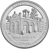 2016 - P Harpers Ferry National Park - Roll of 40 Quarters