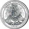 2012 - D Hawaii Volcanoes National Park Quarter Single Coin