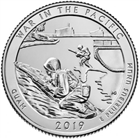 2019 - D War in the Pacific National Historical Park, Guam National Park Quarter 40 Coin Roll