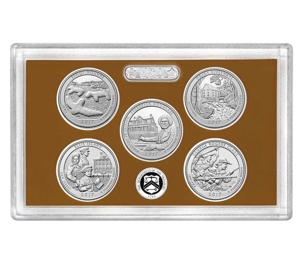 2010-2018 45 Coin National Park Quarter Set In Littleton Folder Uncirculated