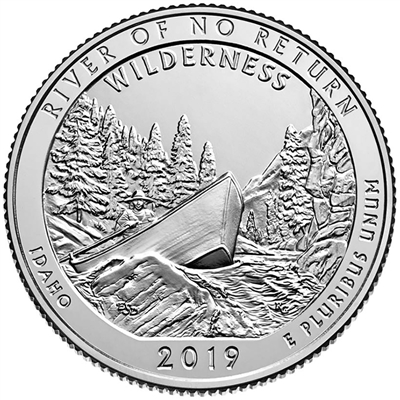 2019 - D Frank Church River of No Return Wilderness, ID National Park Quarter Quarter Single Coin