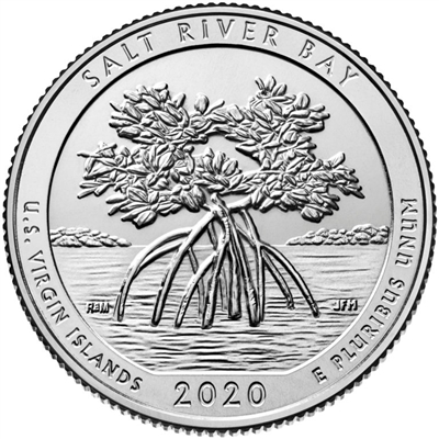 2020 - D Salt River Bay National Historical Park, VI Quarter 40 Coin Roll