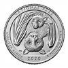 2020 - P American Samoa National Park Quarter Single Coin