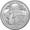 2020 - P Weir Farm National Historic Site Quarter 40 Coin Roll
