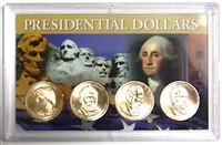 2011 - P Set of 4 Uncirculated Presidential Dollars in Full Color Holder