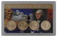 2015 - D Set of 4 Uncirculated Presidential Dollars in Full Color Holder