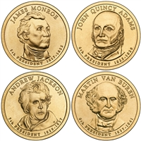 2008 - P and D Presidential Dollar 8 Coin Set