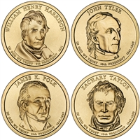 2009 - P and D Presidential Dollar 8 Coin Set