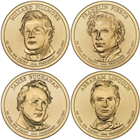 2010 - D Presidential Dollar 4 Coin Set