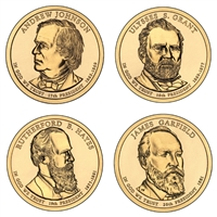 2011 - D Presidential Dollar 4 Coin Set