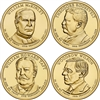 2013 - P Presidential Dollar 4 Coin Set