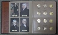 2007-2011 P,D,S 60 Coin Presidential Dollar Set in Bookshelf Dollar Album #8184