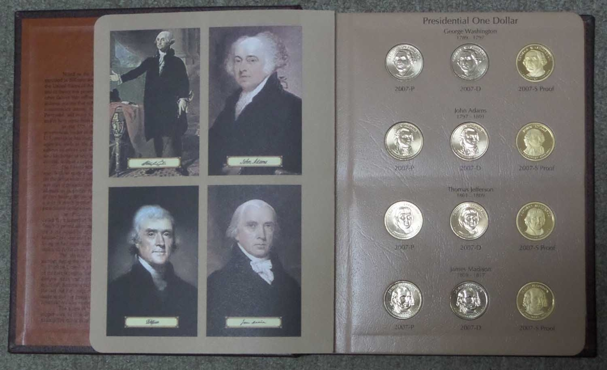 PRESIDENT DOLLARS LOT.PRESIDENTIAL 20 COIN SET 2007-2011S Proof Sets