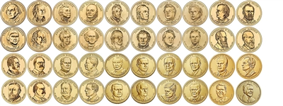 2007 - 2020 P and D Presidential Dollars 80 Coin Set in Full Color Littleton Coin Folder