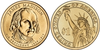 2007 James Madison Presidential Dollar - 2 Coin P&D Set