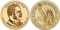 2012 Chester A. Arthur Presidential Dollar - 2 Coin P&D Set