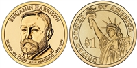 2012 Benjamin Harrison Presidential Dollar - 2 Coin P&D Set