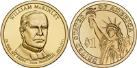 2013 William McKinley Presidential Dollar - 2 Coin P&D Set