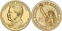2013 Theodore Roosevelt Presidential Dollar - 2 Coin P&D Set