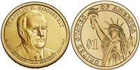 2014 Franklin D. Roosevelt Presidential Dollar - 2 Coin P&D Set