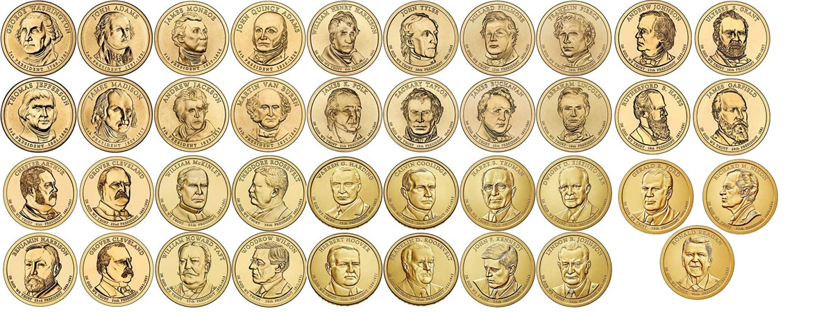 2007 2016 P D S Presidential Dollar 117 Coin Set In