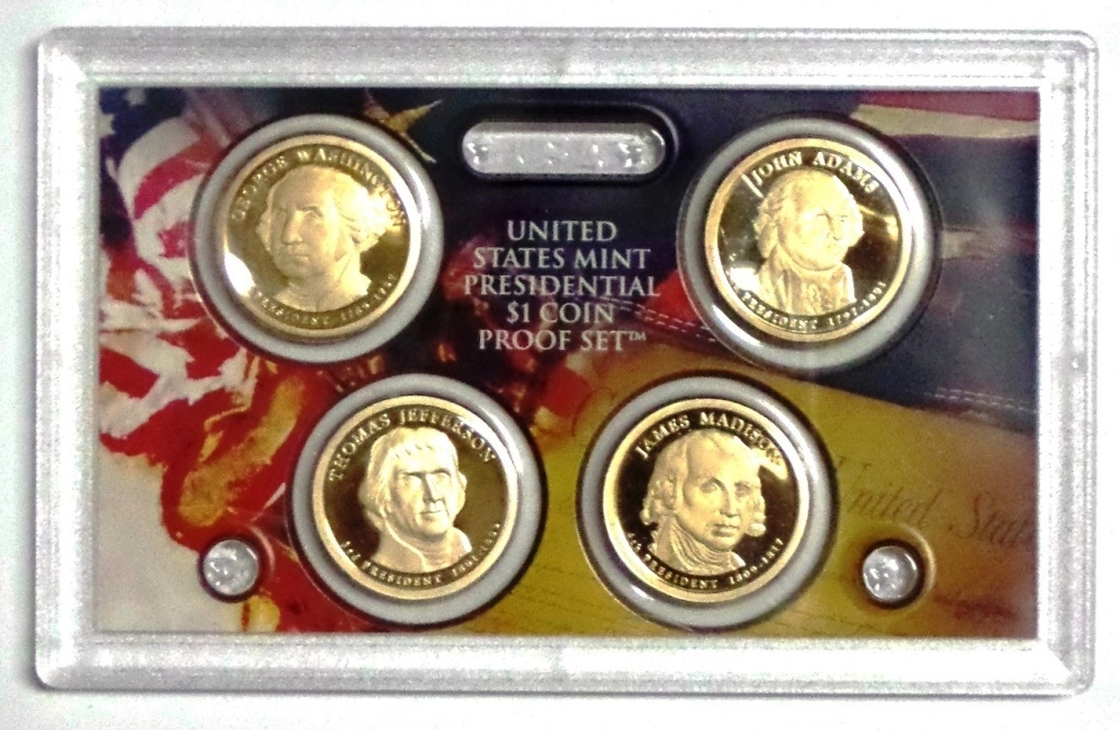 2015 S Presidential 4 Coin Proof Set No Box or CoA Proof