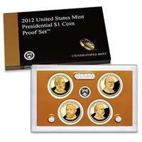 2012 Presidential 4-coin Proof Set w/Box & COA