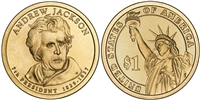 2008 - D Andrew Jackson - Roll of 25 Presidential Dollar