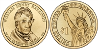 2009 - D William Henry Harrison - Roll of 25 Presidential Dollar