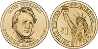 2010 - D James Buchanan - Roll of 25 Presidential Dollar