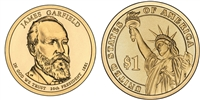 2011 - D James Garfield - Roll of 25 Presidential Dollar