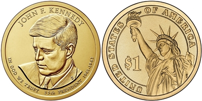 2015 - D John F. Kennedy - Roll of 25 Presidential Dollar - Now In Stock!