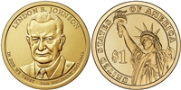 2015 - D Lyndon B. Johnson - Roll of 25 Presidential Dollar