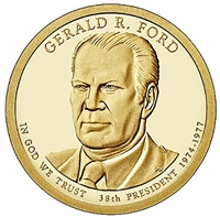 2016 - D Gerald R. Ford - Roll of 25 Presidential Dollar