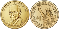 2015 - Dwight Eisenhower Presidential Dollar - Single Coin