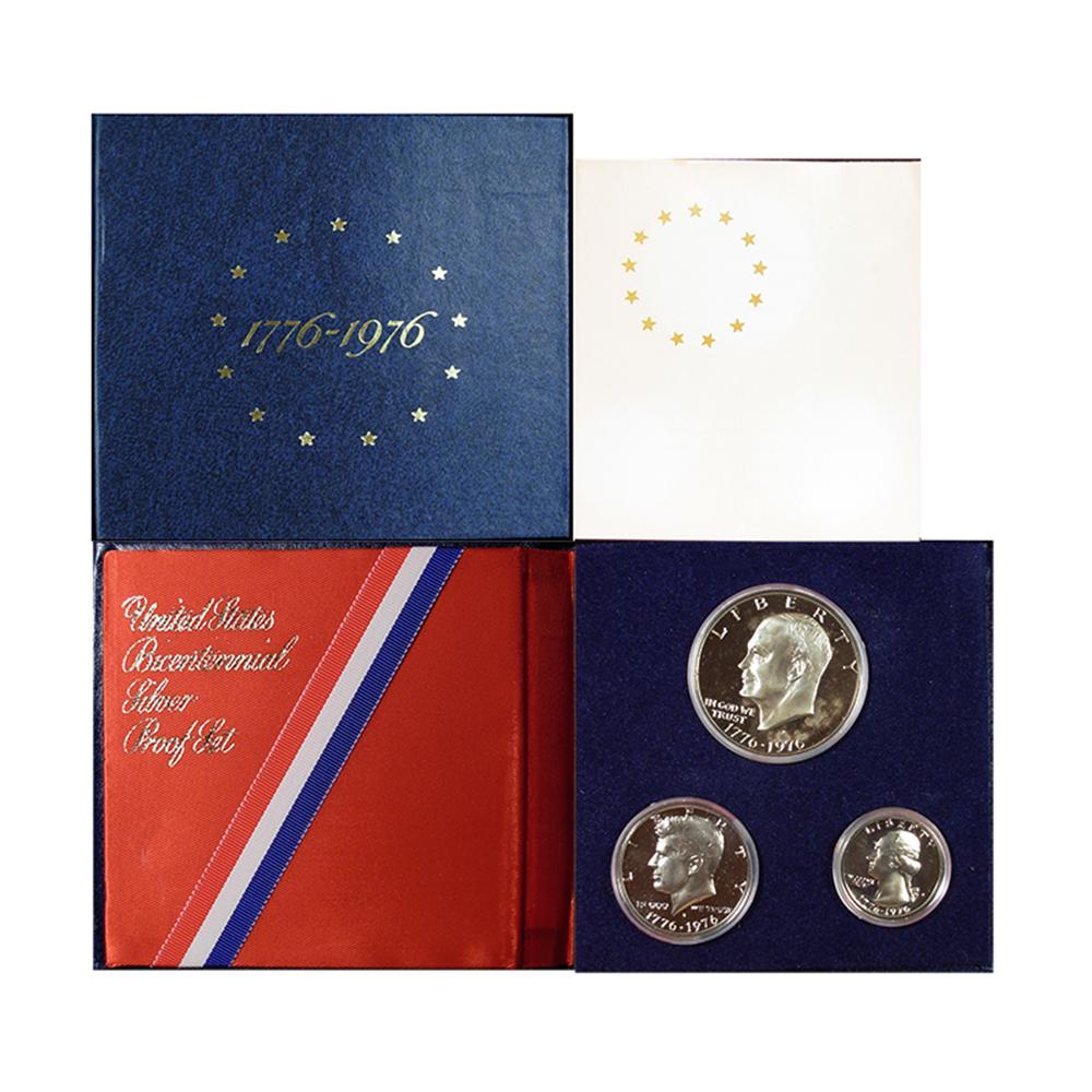 1776-1976 PROOF /& Unc 3 Pc 40/% SILVER US Mint Sets 2 Sets 1 Price Bulk