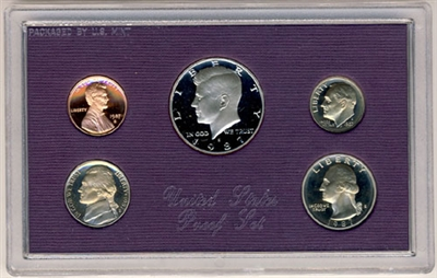 1987 U.S. Mint Clad Proof Set in OGP with CoA