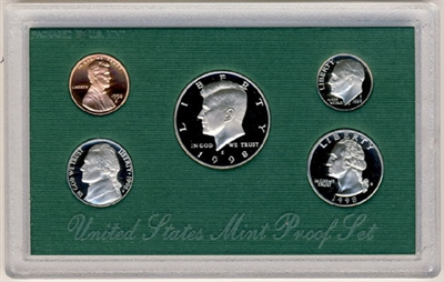 1998 U.S. Mint Clad Proof Set in OGP with CoA